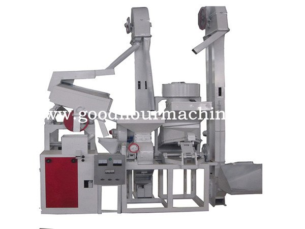 1-2tons of rice mill and cleaning combination machine