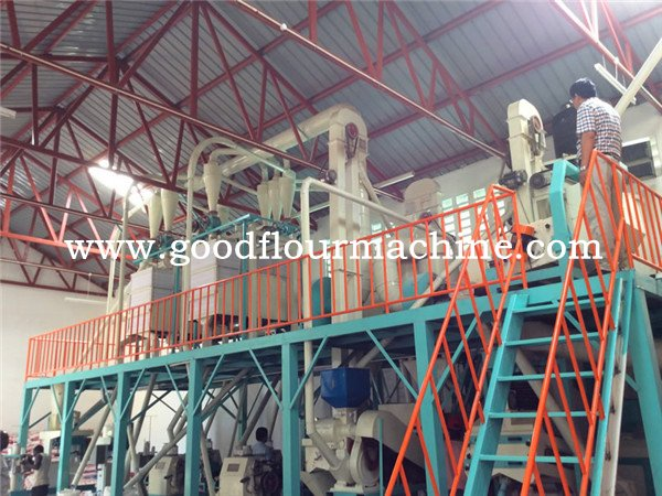 corn flour mill machine with steel structure (2 floor)