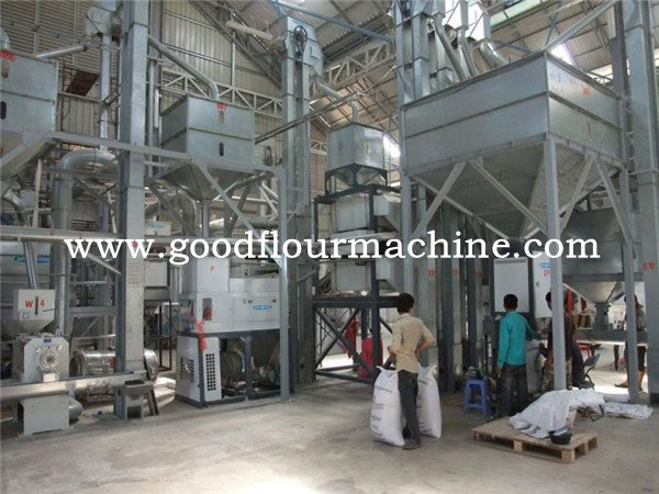 60tons of rice mill machine plant